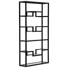 Brass Bookcase Bookcase Chinese Black Lacquer Bookcase Mid Century Pierre