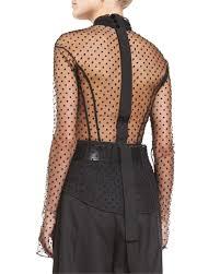 swiss dot blouse marc swiss dot tie neck blouse black neiman