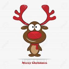 imagenes animadas de renos de navidad ilustración vectorial de dibujos animados lindo reno de navidad