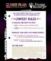 contest win a free private game at escape room live escape
