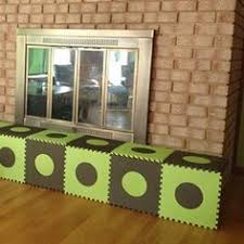 diy padded hearth cover for baby proofing diy pinterest
