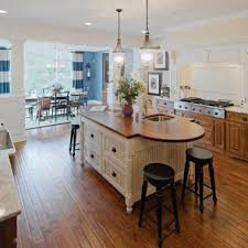 rounded kitchen island kitchens american heritage homes