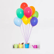 colourful balloons vinyl wall sticker by oakdene designs colourful balloons vinyl wall sticker