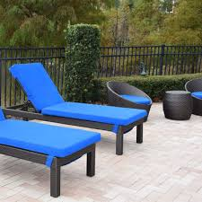 Patio Furniture Chaise Lounge Cushioned Commercial Patio Furniture Cushioned Outdoor Patio
