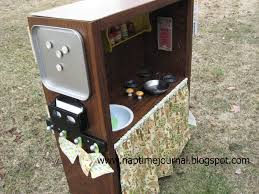 play kitchen from old furniture nap time journal award winning bookcase turned play kitchen