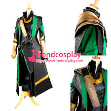 free shipping the avengers loki jacket coat moive cosplay