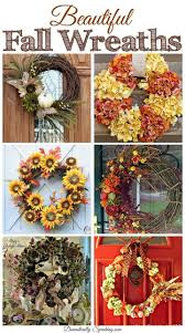 185 best fall wreaths images on driftwood wreath