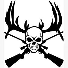 Stick On Wall Skull Hunter Wall Posters Stick On Wall Art Home Decor Deer Antler