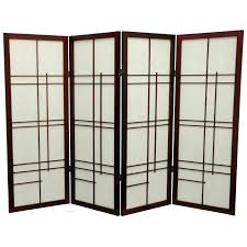 room separator oriental furniture double cross 60 inch shoji screen room divider