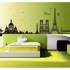 Affordable Home Decor Online Australia Romantic Paris City View Diy Wall Stickers Wallpaper Art Decor