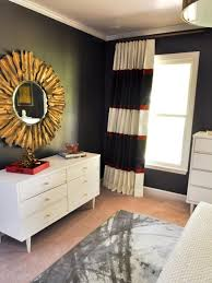 Black And Gold Living Room Decor by Eclectic Black And Red Master Bedroom Evaru Design Hgtv