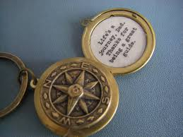 wedding quotes lifes journey fathers day locket keychain compass quote is a journey