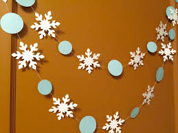 blue and white snowflake garland onederland decorations