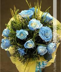 blue roses delivery dozen blue roses spray bouquet
