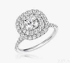 square cut rings images Double halo square cushion cut diamond engagement ring png