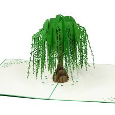 pop up tree willow tree pop up card floral birthday 3d card pop card supplier