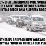 Driving In Snow Meme - winter driving meme generator imgflip