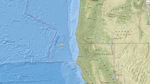 Northern Oregon Coast Map by Two Earthquakes Shake Oregon Coast Kgw Com