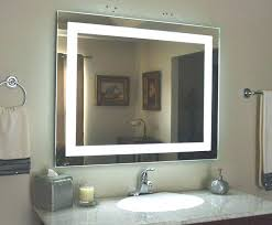 Bathroom Mirror With Clock Lighted Bathroom Mirrors Illuminated Bathroom Mirrors
