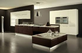 modern wooden kitchens white paint color cabinet on dark wood floor light brown wooden