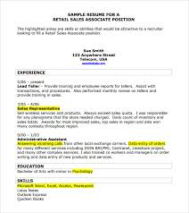 Resume Template For Sales 9 Sales Resume Templates Download Documents In Pdf Word Psd
