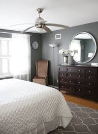 dark furniture on gray walls u0026 silver accents master bedroom