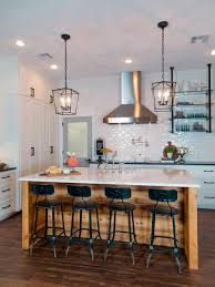 kitchen room puck lights yellow curtains landscaping master