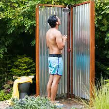 Outdoor Shower Enclosure Camping - make your own outdoor shower walls backyard and yards
