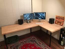 large l desk gerton adils l desk large ikeahacks