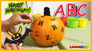 2 min challenge abc alphabet letters halloween pumpkin pinning
