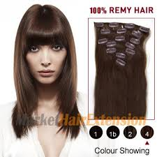 clip hair canada 16 medium brown 4 7pcs clip in indian remy hair extensions