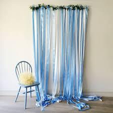 wedding backdrop blue blue ribbon wedding backdrop by just add a dress