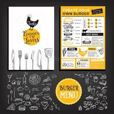 beer restaurant cafe menu template design stock vector image