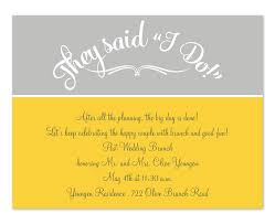 post wedding brunch invitation they said i do yellow grey post wedding brunch invitation