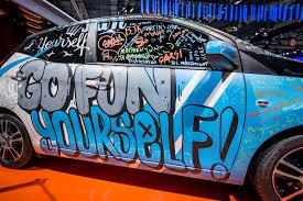 custom car art toyota aygo at the paris motor show