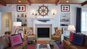 coastal themed living room 20 nautical home decorations in the living room home design lover