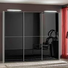 engaging black glass sliding door wardrobe design ideas along with