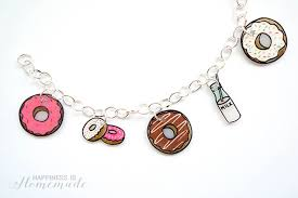 diy charm bracelet charms images Shrinky dink donut charm bracelet happiness is homemade jpg