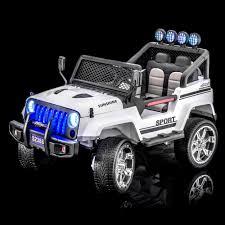kids jeep wrangler sportrax rancher 4wd kids ride on 4wd white