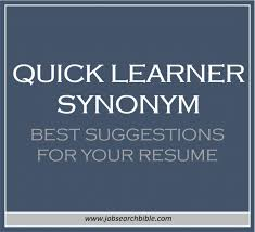 Synonyms Comfort Quick Learner Synonym Suggestions For Your Resume Job Search Bible