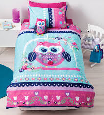 pretty owl quilt cover set girls double bed size and double beds
