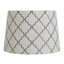 Light Gray Shades by Shop Allen Roth 9 In X 13 In White With Gray Embroidery Fabric