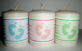 personalized baby shower favors 14 personalized baby shower favors votive candle labels ebay
