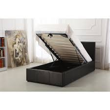 boston black 3ft ottoman storage bed ark furniture
