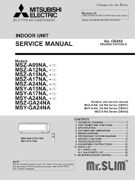 service manual mitsubishi electric cooling u0026 heating