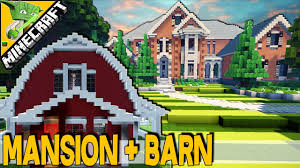 minecraft mansion barn guitar shaped pool amazing layout best