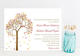 autumn wedding invitations fall wedding invitations mid south