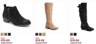 womens boots on sale kohls kohl s s boots as low as 11 99 up to 81 for black