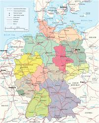 map of gemany political map of germany