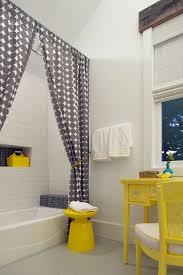 corner shower curtain rod in bathroom beach style with bathroom